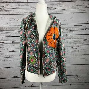 VTG Lucky Brand Floral Asian Embroidered Jacket
